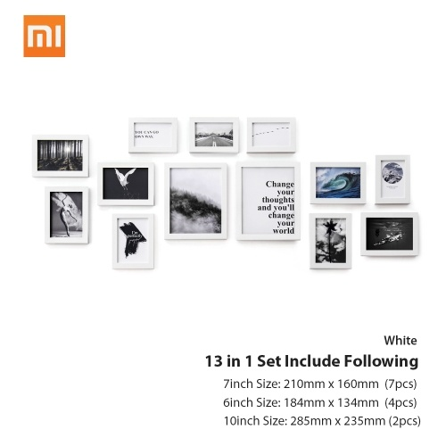 13PCS/lot Xiaomi Eco-chain H7 MDF Fiber-plate Quality Vintage Photo Frame фото
