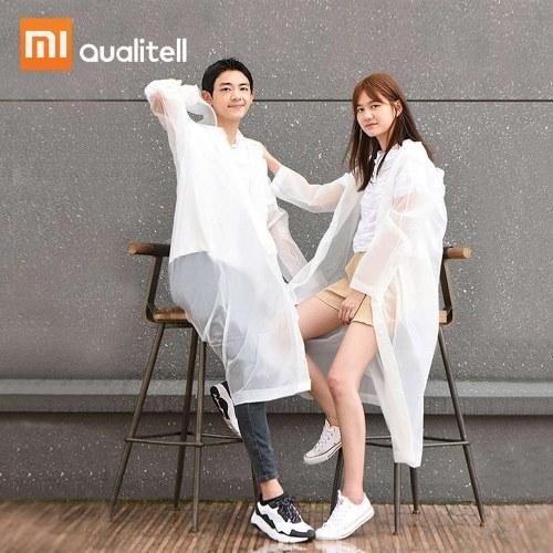 Xiaomi Qualitell Erwachsene Regenmantel Männer Frauen Winddicht Wasserdicht Unisex Travel Camping Wandern Regenbekleidung Uniform Muss Regen Mantel