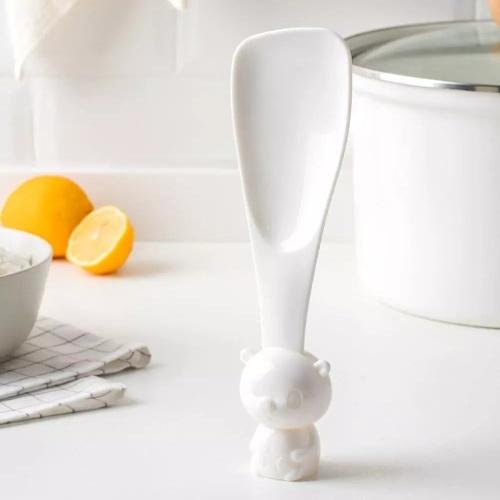 Youpin милый мультфильм KeLi белый медведь рисовая лопатка не липкая рисовая лопатка вертикальная подставка рисовая ложка суп соус ковш кухонный инструмент ужин