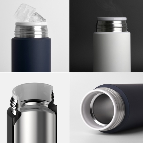Xiaomi Mijia Stainless Steel Thermos 350ml Portable Vacuum Flask Insulation Thermoses Thermal Cold Insulation Bottle Water Cup for School Office Picnic Travel Outdoors
