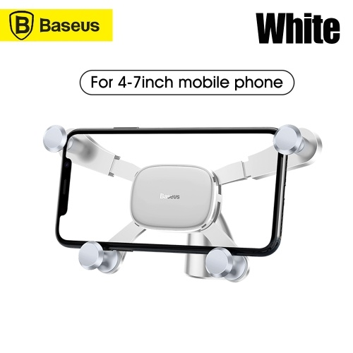Xiaomi Baseus Universal Smartphone Car Air Vent Mount Phone Holder car center console navigation bracket horizontal screen support car Compatible with iPhone4.7-6.5 inches