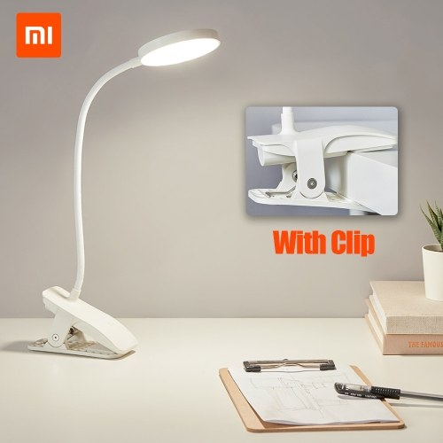 Xiaomi Youpin Desk Lamp Clip Night Light USB Rechargeable 5W 4000K 360 Degrees Adjustable Touch Dimming 3 Light Modes Reading Lamp For Bedroom
