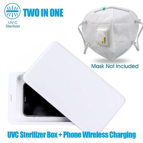 Xiaomi Youpin 5W 10W電話ワイヤレス充電ステーション付き多機能UV滅菌ボックス