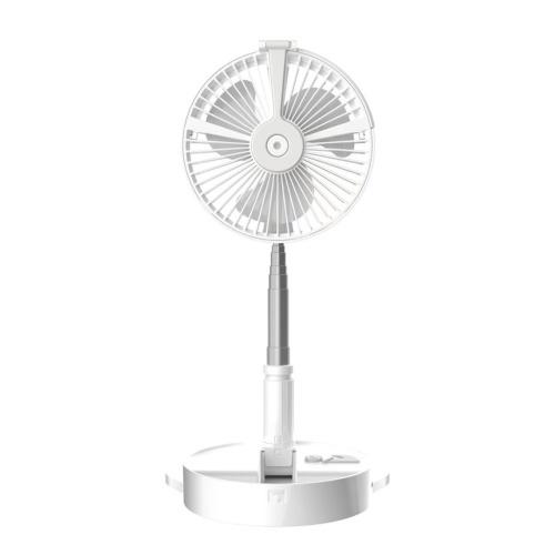 H9 Portable Folding Hydrating Fan USB Electric Fan Multifunctional Humidifying Water Spray Fan Rechargable Desk Floor Fan with Night Light
