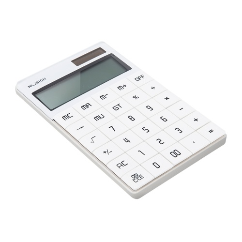 Calcolatrice NUSIGN Widescreen Dual Power Supply School Student Teaching Stationery Calculating Tool Office