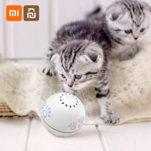Xiaomi Youpin Petoneer Smart Pet Companion Ball Cat Toy Built-in Catnip Box Scorrimento irregolare Funny Cat Manufatto Smart Pet Toy Pet Ball Prodotti per animali Giocattolo per gattini Ricarica USB