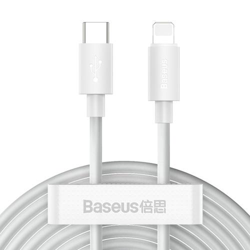 Câble de chargeur Baseus 20W PD Charge rapide USB C vers câble d'éclairage Compatible avec iPhone 12 11 8 Xr chargeur de données câble USB de type C