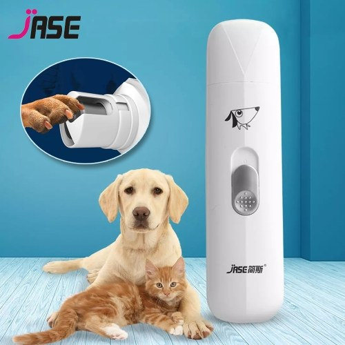 JASE Dog Nail Grinder Professional Adjustable Power 2-Speed Electric Pet Nail Trimmer Powerful Low Noise Painless Paws Grooming & Smoothing for Small Medium Large Dogs & Cats PC-310