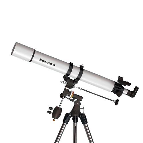Telescopio astronómico CELESTRON 80EQ PRO Revestimiento multicapa HD Zoom Telescopio astronómico refractivo Calibre 80 mm Soporte para teléfono con imagen clara Lente 3X Barlow LED Punto rojo Posicionamiento GPS de estrellas Telescopio de gran aumento