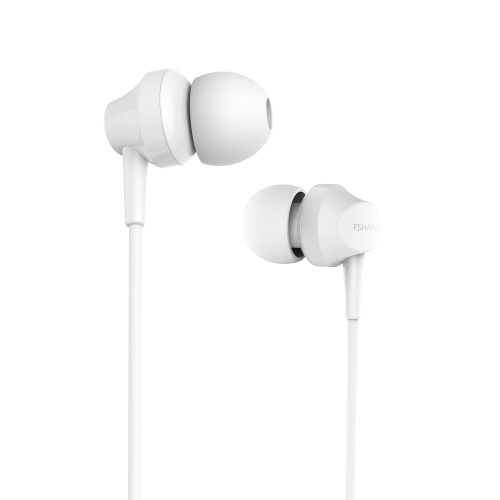 FSHANG A2 Mini Bass Bonitão Ear Earphone Microfone 3.5mm Earphones Audifonos Airpods Ear Phone Earbuds Música com Mic para Smartphones