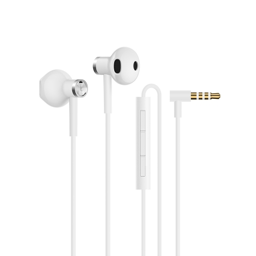 Original Xiaomi Dynamic Coil + Ceramic Horn Dual-unit Half-in-ear Earphones (White)