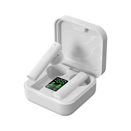 Fones de ouvido Air6 Pro True Wireless BT 5.0 Fones de ouvido estéreo TWS com controle de botão LED digital Power Display HiFi estéreo Tecnologia de cancelamento de ruído IPX4 à prova d'água Design binaural Long Playtime for Gaming Sports Music
