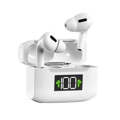 Fones de ouvido sem fio I3X BT5.1 HiFi Stero Sound IPX5 à prova d'água Half-in-Ear Dual Hosts Earbuds Intelligent Touch Control Type-C White Sport Headset compatível com Andriod iOS Windows e outros dispositivos BT para todos os smartphones