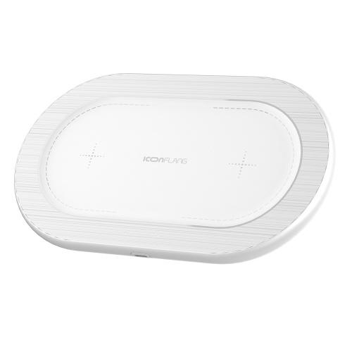 Pad di ricarica per caricabatterie wireless ICONFLANG X2 Qi per iPhone X 8 7 Plus Samsung S9 S8 Plus