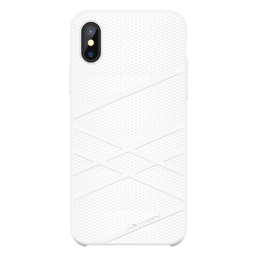 NILLKIN Flex Case Caso de silicone líquido para iPhone X Anti-scratch Anti-choque Anti-dirt Caso de telefone ultra fino para iPhone X