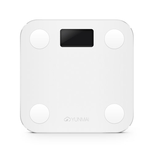 YUNMAI Mini Smart Scale Graisse Corporelle Échelle numérique de Pondération Monitor de Composition Corporelle BT4.0 avec Affichage Extra Large APPLICATION GRATUITE pour Android 4.3 iOS 8.0 Smartphones