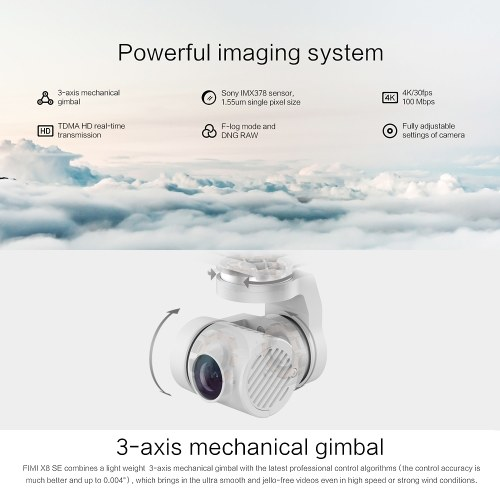 Global Version Xiaomi FIMI X8 SE Drone 4K HD Camera 5KM FPV 3-axis Gimbal GPS Quadcopter