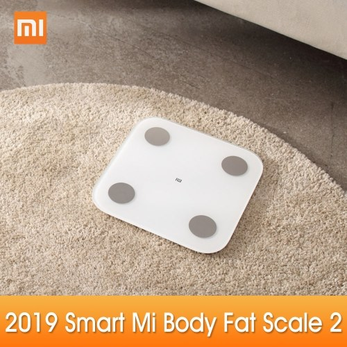 New Xiaomi Mi Body Composition Scale 2 Smart Fat Weight Health Scale BT 5.0 Balance Test 13 Body Date BMI Weight Scale LED Digital Display Mi Fit APP Data Analysis фото