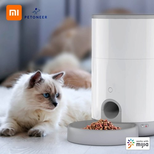 Xiaomi Youpin PETONEER Mini Pet Feeder Smart Food Dispenser APP Remote Control 2.6L USB Charging Battery Power Supply  Feeding Machine For Dog Cat