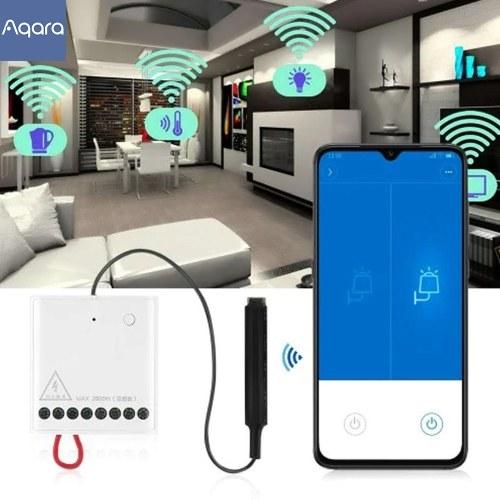Aqara Zweiwege-Steuermodul Wireless Relay Controller 2 Kanäle funktionieren für APP & Aqara Home Kit Steuerschalter LLKZMK11LM