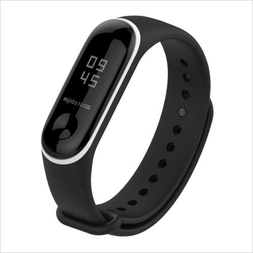 Band Strap Uhrenarmband Sport Fashion Wearable Replaceable Translucent doppelte Farbe Uhrenarmband Ersatz für XIAOMI MI Band 3
