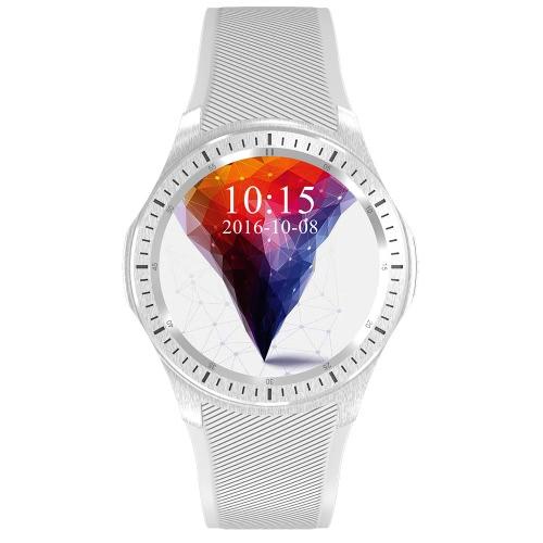 DM368 intelligente orologio 3G WCDMA Guarda 1.39inch AMOLED schermo del telefono 400 * 400pixel MTK6580 Quad Core 1.3GHz CPU Android 5.1 OS 512MB di RAM 8GB ROM 400mAh Batteria GPS BT4.0 WiFi Contapassi Cuore-rate chiamata di promemoria Smartwatch