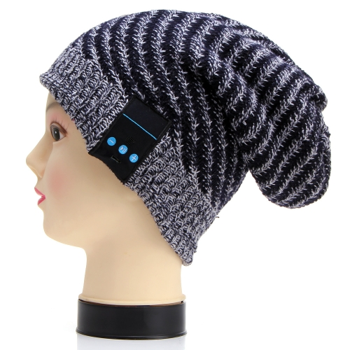 Fashion Unisex Winter Soft Wool Hat Wireless Bluetooth Smart Cap Headset Headphone Speaker with Mic