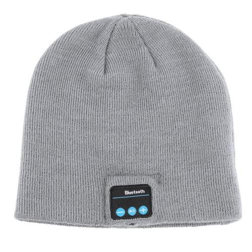 Moda TM5 fone de ouvido macio quente Beanie chapéu sem fio Bluetooth 3.0 tampa inteligente fone de ouvido fone de ouvido com microfone atender/desligar chamadas ouvindo música