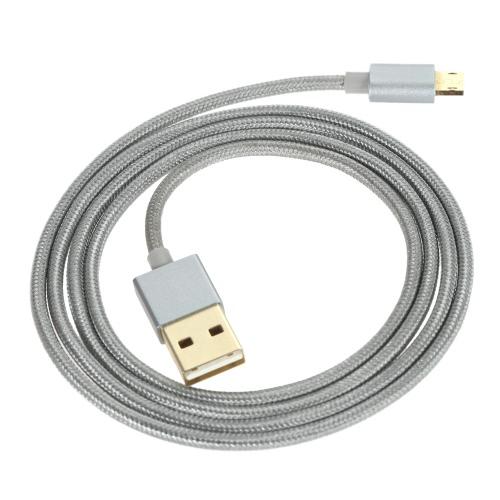 1 M liga USB 2.0 ao dobro-lado 5 pino Micro dados carregamento Nylon trança oxigênio livre de cabos condutor de cobre de alta velocidade alta eficiência para edge Samsung S6 S7 S7 HTC Xiaomi nota Pro Huawei Tablet PC GPS de borda