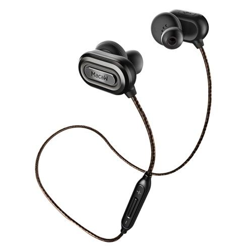 Original Stereo Ara T1000 universale Bluetooth auricolare CSR8645 BT4.1 HiFi Musica In Auricolare Cuffie Auricolare wireless Esecuzione Sport sweatproof auricolare con microfono per iPhone 6 6S 6 Plus 6S Inoltre Samsung S7 S6 Smartphone bordo