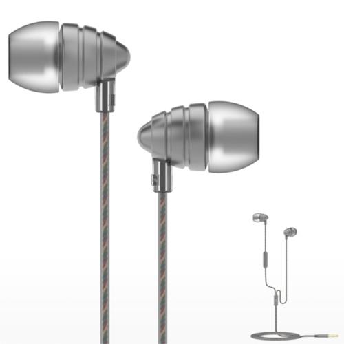 UiiSii US90 Fones de ouvido com baixo poderoso no ouvido Earbuds 3,5 mm fones de ouvido com fio com microfone