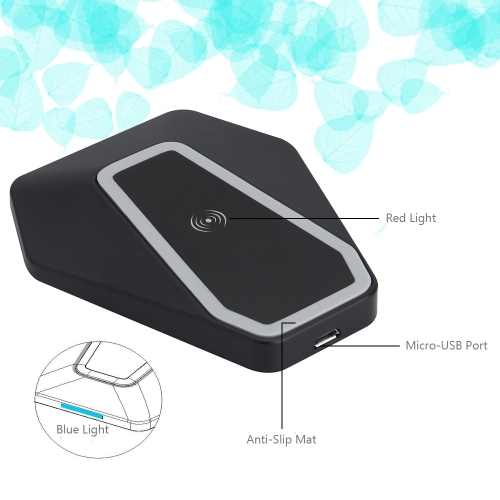 qi-certified ultra slim wireless charger charging pad universal fast phone