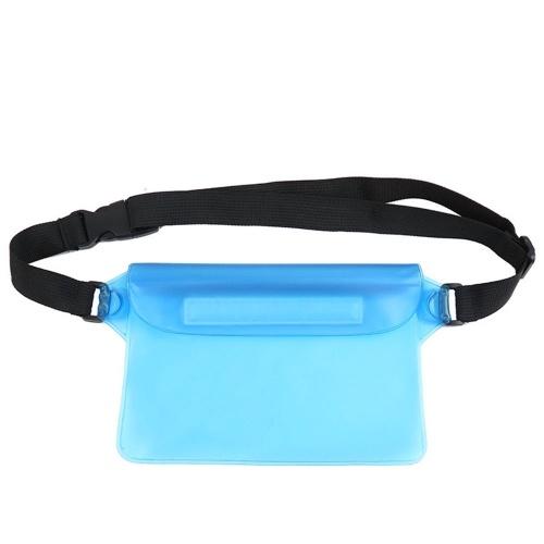 Wasserdichte Outdoor Schwimmen Treiben Beutel Dry Bag PVC Taille Telefon Abdeckung Lagerung Schutztasche Cyan