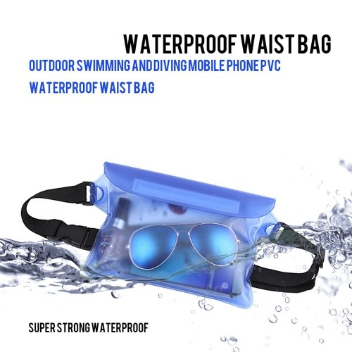 Waterproof Outdoor Swimming Drifting Pouch Dry Bag PVC Waist Phone Cover Storage Protective Bag Yellow