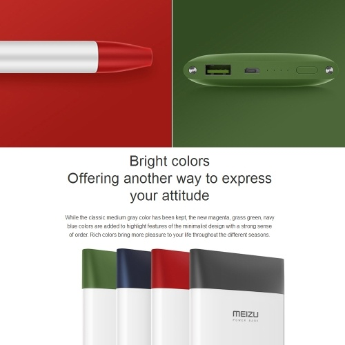 MEIZU M20 Power Bank 10000mAh 24W Flash Quick Charge External Battery for iPhone X iPhone 8 Samsung Galaxy S8 Note 8