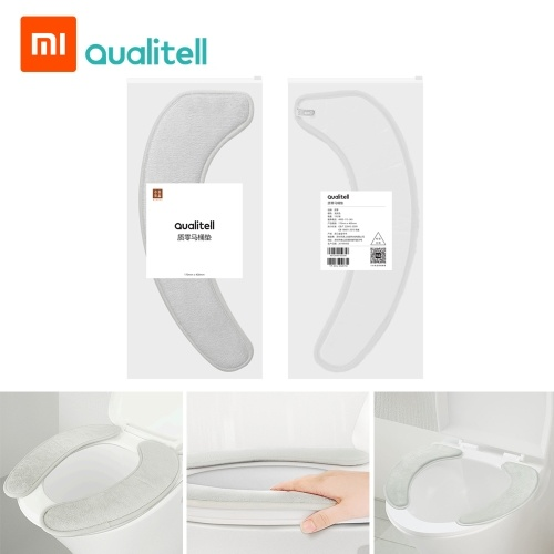Xiaomi Youpin Zero Toilet Seat Mat Toilet Cover Seat Lid Pad Cushion Selected flannel no trace adsorption easy to remove and wash 1 pair / bag