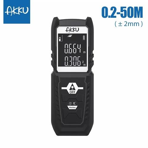 Xiaomi Youpin AKKU Télémètre Laser Portatif Distance Zone Mesurer Diastimètre Ranging Outil Numérique Mètre Électronique Règle Mesure Range Finder 164ft 50m