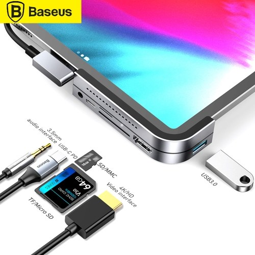 Baseus Multifunctional Type-C HUB Converter USB C HUB to USB 3.0 for iPad Pro Type C HUB for MacBook Pro Docking Station Multi 6 USB Ports