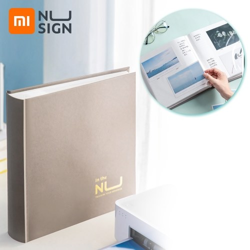 Xiaomi Youpin Nusign Photo Album Book Pictures Postcard Collector Family Memory Pictures Storage Hold Case Baby Wedding Graduation Commemorative Album Scrapbook 200 A6 Sized Photos