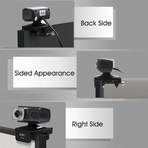 Aoni USB Webcam Video Call Laptop Computer 720P Web Cam