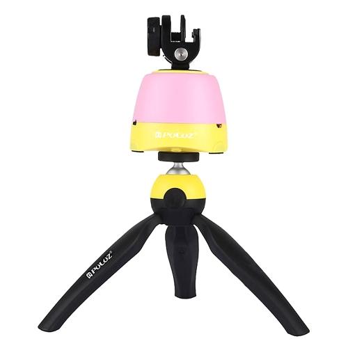 PULUZ Cabeça Panorâmica Rotativa panorâmica de 360 graus + montagem de tripé + braçadeira com controle remoto Deck de nuvem para câmera de DSLR GoPro de smartphone