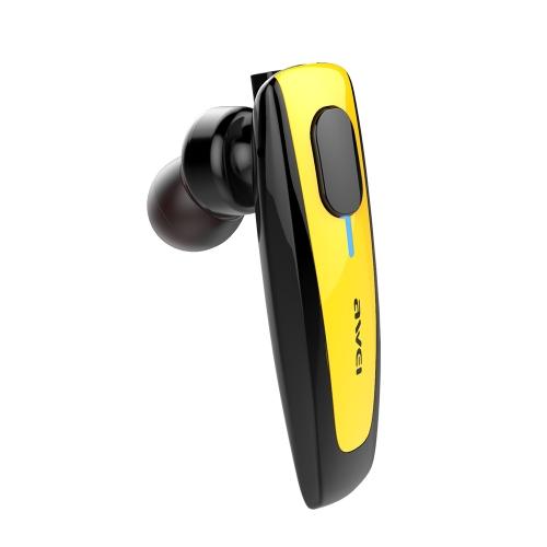 AWEI N3 Business Sport Наушники-вкладыши Stereo BT4.1 Запуск гарнитуры для наушников Hands-free Pair / Off / On Прием / Воспроизведение / пауза для iPhone X Samsung S8 + Note 8
