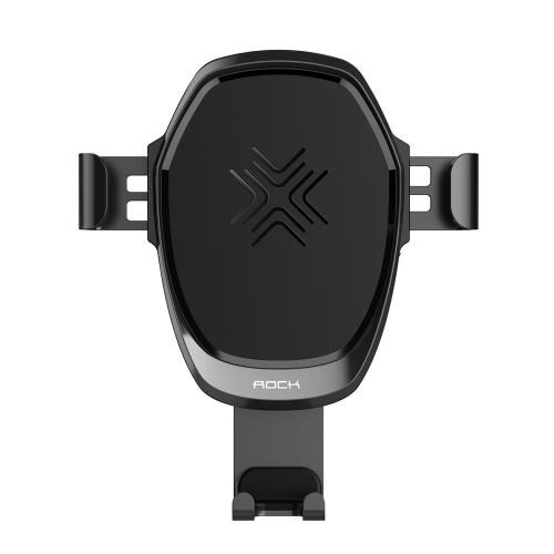 ROCK sans fil de charge Gravity Car Mount 2 en 1 10W Qi Standard Téléphone Chargeur Titulaire