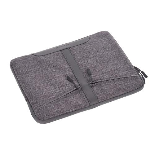 Prowell NB53290 Tablet-Tasche 13-Zoll-Hülle Tablet-Hülle Reißverschluss weiche Business-Handtasche Mode tragbare Tablet-Tasche mit Fronttasche Aktentasche für iPad Samsung Xiaomi