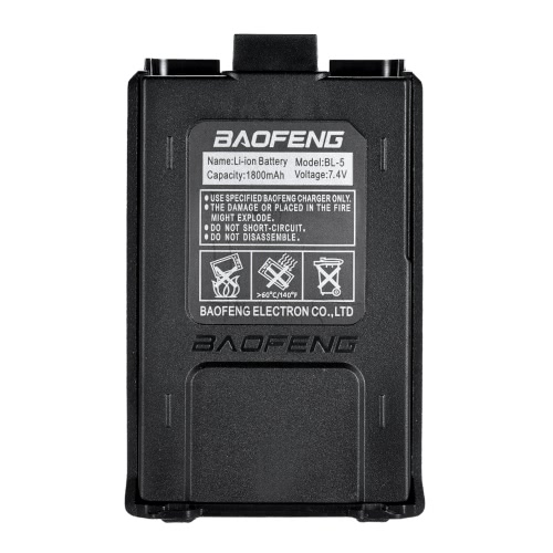 Batteria BAOFENG BL-5L ad alta capacità 7.4V 2100mAh Li-ion per batterie radio bidirezionali Baofeng UV 5R UV-5R