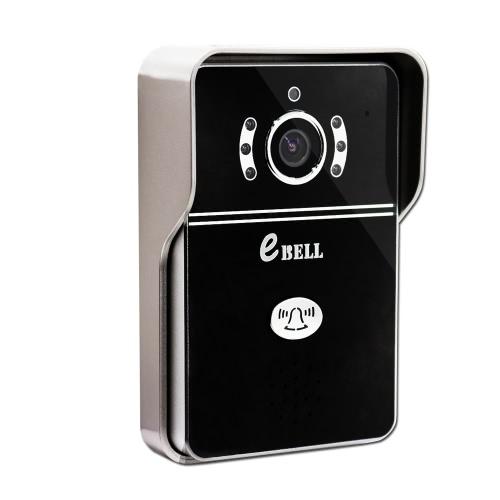 Ebell ATZ-DBV04P intelligent IP Sonnette 2.1mm Lens / 145 Degree 720P HD Audio Full Duplex Smart Wireless WiFi Videophones mobile Ulock mains libres Parler de vision nocturne Alarme enregistrement vidéo de support de sécurité à distance Accueil 64GB TF carte pour iOS Smartphone Android