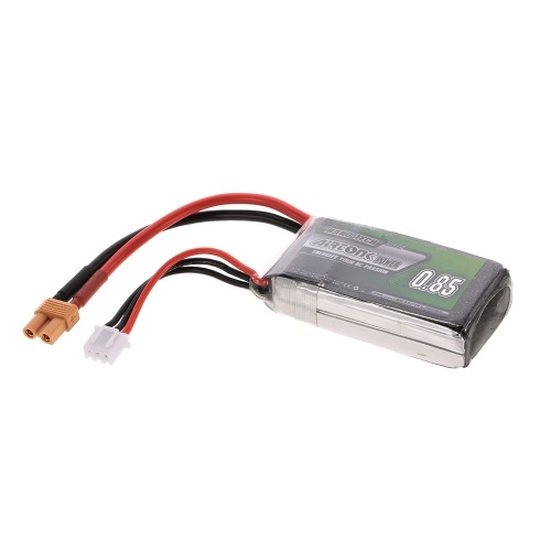 7.4V 850mAh 30C 2S Rechargeable Li-Po Battery with XT30 Plug for RC Drone Airplane Car Truck