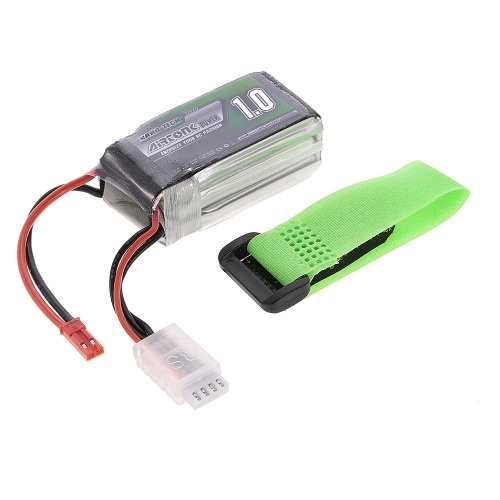 11.1V 1000mAh 30C 3S Rechargeable Li-Po Battery with JST Plug for RC Racing Drone Quadcopter Helicopter Airplane Car Truck