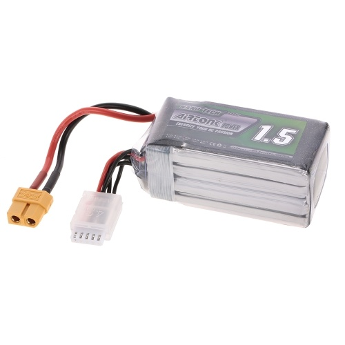 14.8V 1500mAh 60C 4S Rechargeable Li-Po Battery with XT60 Plug for RC Racing Drone Quadcopter Helicopter Airplane Car Truck