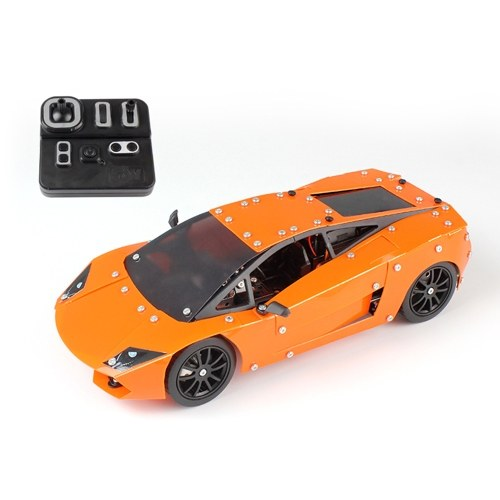 SW (RC) -001 580Pcs DIY Building Blocks Car 1/16 2.4G Construcción de acero inoxidable RC Car